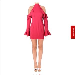 NEW! Free People wine fitted cold shoulder dress